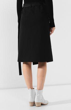 Женская шерстяная юбка HELMUT LANG черного цвета, арт. J05HW303 | Фото 4