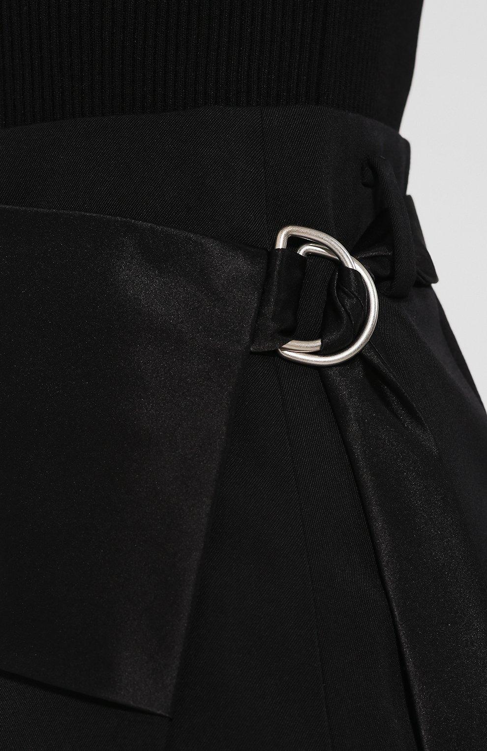 Женская шерстяная юбка HELMUT LANG черного цвета, арт. J05HW303 | Фото 5