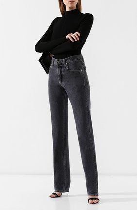 Женские джинсы HELMUT LANG темно-серого цвета, арт. J05DW202 | Фото 2