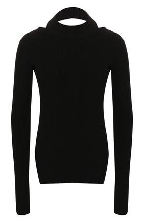 Женская пуловер HELMUT LANG черного цвета, арт. J04HW703 | Фото 1