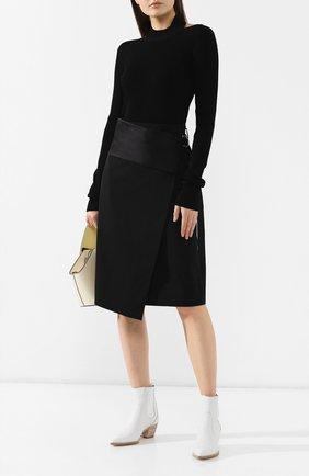 Женская пуловер HELMUT LANG черного цвета, арт. J04HW703 | Фото 2