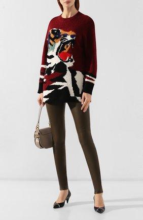Женские кожаные брюки HELMUT LANG хаки цвета, арт. G06HW240 | Фото 2