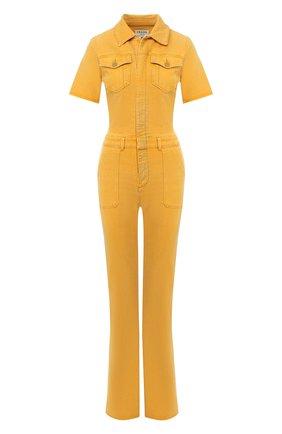 Женский джинсовый комбинезон FRAME DENIM желтого цвета, арт. LFFBJ009 | Фото 1