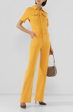 Женский джинсовый комбинезон FRAME DENIM желтого цвета, арт. LFFBJ009 | Фото 2