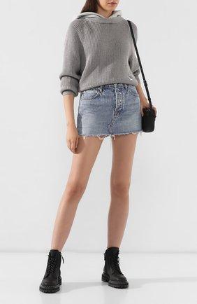 Женская джинсовая юбка DENIM X ALEXANDER WANG голубого цвета, арт. 4DC2195523 | Фото 2