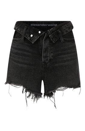 Женские джинсовые шорты DENIM X ALEXANDER WANG серого цвета, арт. 4DC2194542 | Фото 1 (Материал внешний: Хлопок; Женское Кросс-КТ: Шорты-одежда; Кросс-КТ: Деним; Статус проверки: Проверено; Длина Ж (юбки, платья, шорты): Мини; Стили: Кэжуэл)