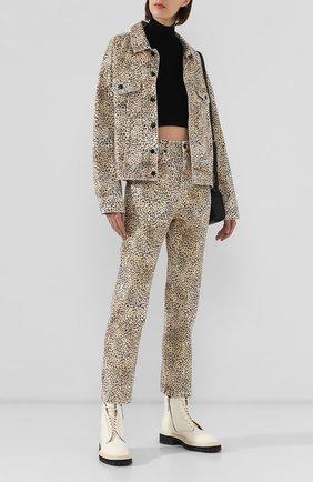 Женские джинсы с принтом DENIM X ALEXANDER WANG разноцветного цвета, арт. 4DC2194534 | Фото 2