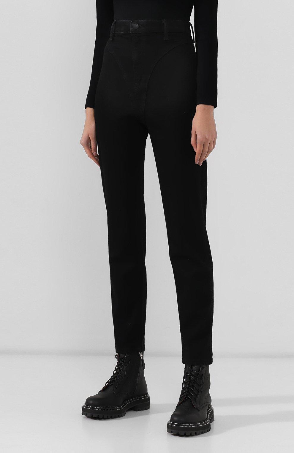 Женские джинсы DENIM X ALEXANDER WANG черного цвета, арт. 4DC2194500 | Фото 3