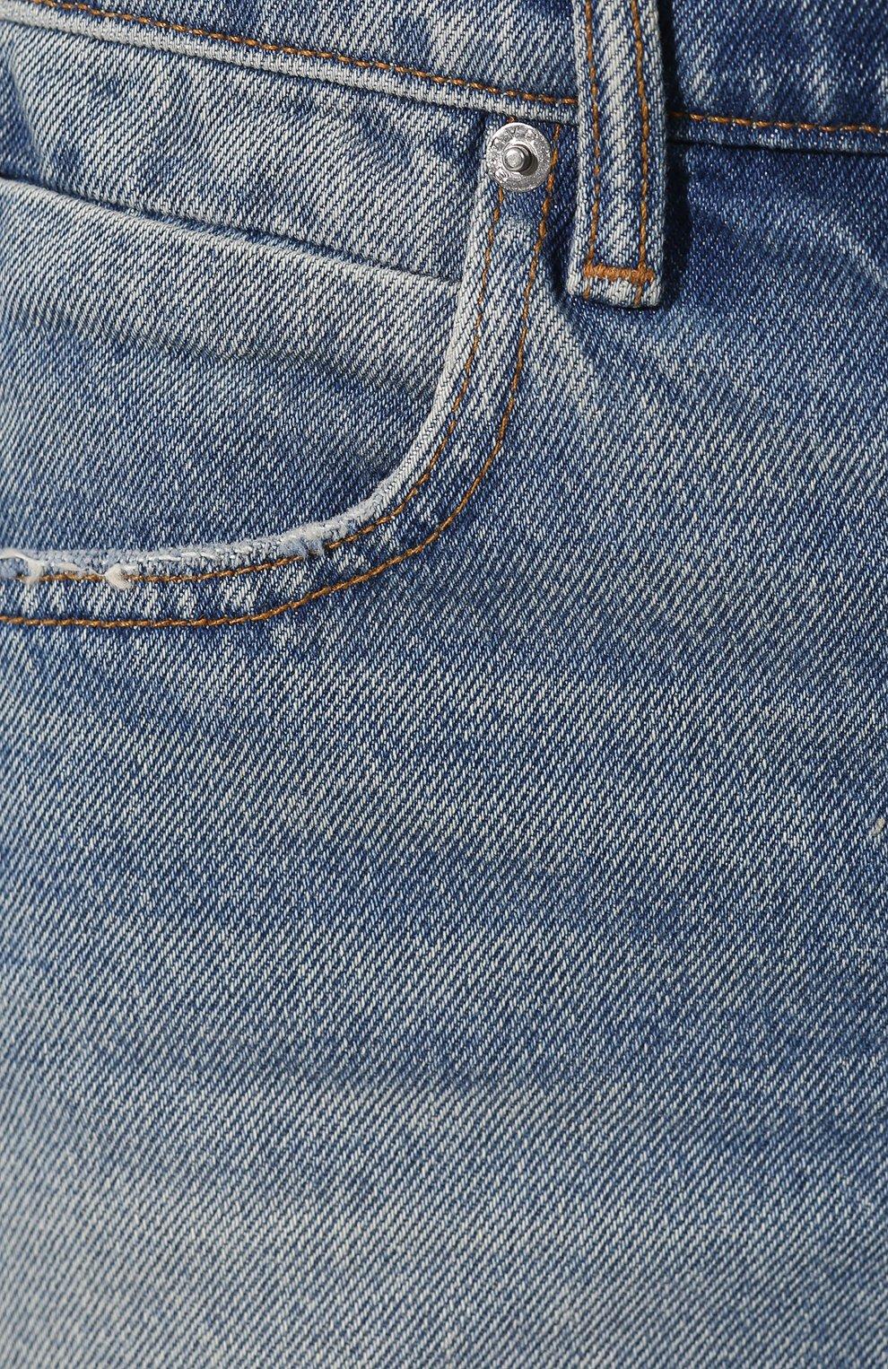Женские шорты DENIM X ALEXANDER WANG синего цвета, арт. 4DC2194493 | Фото 5