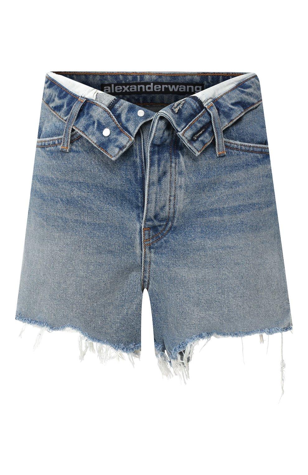 Женские джинсовые шорты DENIM X ALEXANDER WANG синего цвета, арт. 4DC2194487 | Фото 1