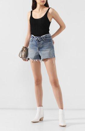 Женские джинсовые шорты DENIM X ALEXANDER WANG синего цвета, арт. 4DC2194487 | Фото 2