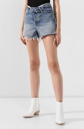Женские джинсовые шорты DENIM X ALEXANDER WANG синего цвета, арт. 4DC2194487 | Фото 3