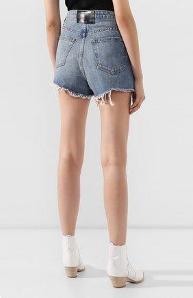 Женские джинсовые шорты DENIM X ALEXANDER WANG синего цвета, арт. 4DC2194487 | Фото 4