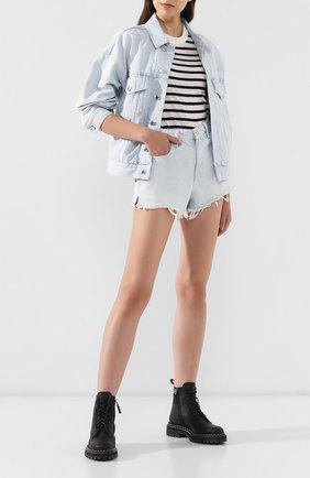 Женские джинсовые шорты DENIM X ALEXANDER WANG голубого цвета, арт. 4DC2194464 | Фото 2