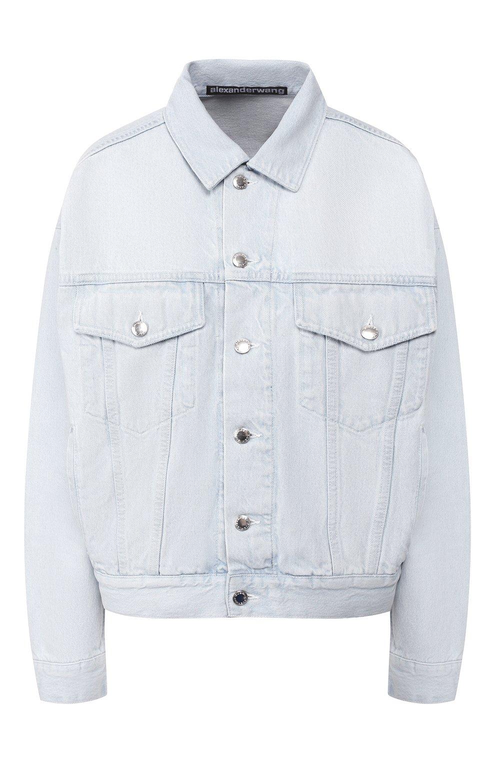 Женская джинсовая куртка DENIM X ALEXANDER WANG голубого цвета, арт. 4DC2192462 | Фото 1