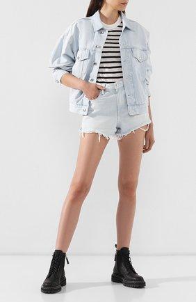 Женская джинсовая куртка DENIM X ALEXANDER WANG голубого цвета, арт. 4DC2192462 | Фото 2
