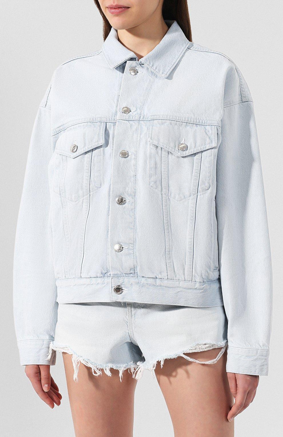 Женская джинсовая куртка DENIM X ALEXANDER WANG голубого цвета, арт. 4DC2192462 | Фото 3