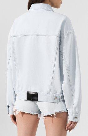 Женская джинсовая куртка DENIM X ALEXANDER WANG голубого цвета, арт. 4DC2192462 | Фото 4