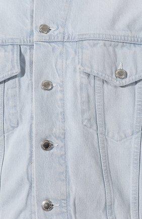 Женская джинсовая куртка DENIM X ALEXANDER WANG голубого цвета, арт. 4DC2192462 | Фото 5