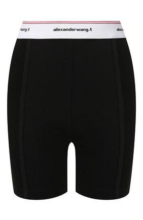 Женские хлопковые шорты ALEXANDERWANG.T черного цвета, арт. 4CC2194024 | Фото 1