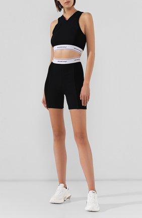 Женские хлопковые шорты ALEXANDERWANG.T черного цвета, арт. 4CC2194024 | Фото 2