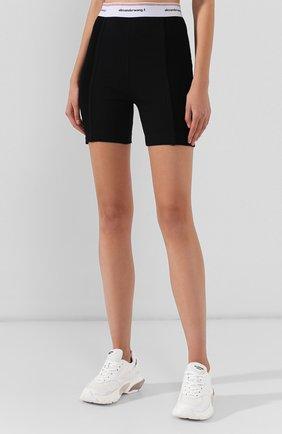 Женские хлопковые шорты ALEXANDERWANG.T черного цвета, арт. 4CC2194024 | Фото 3