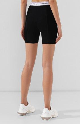 Женские хлопковые шорты ALEXANDERWANG.T черного цвета, арт. 4CC2194024 | Фото 4
