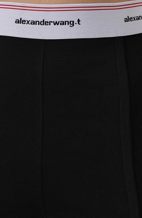 Женские хлопковые шорты ALEXANDERWANG.T черного цвета, арт. 4CC2194024 | Фото 5