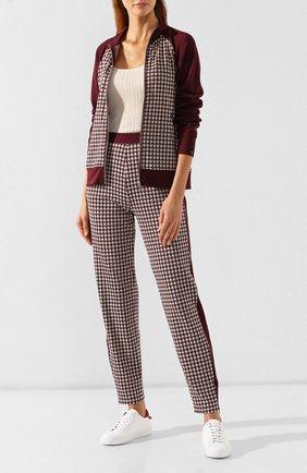 Женские брюки RAG&BONE бордового цвета, арт. W294T18JB   Фото 2