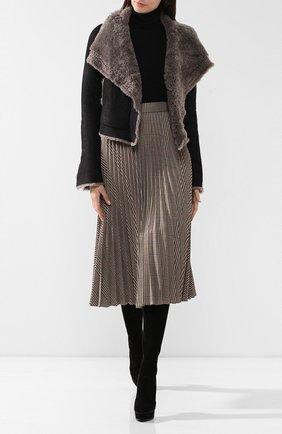 Женская дубленка RICK OWENS серого цвета, арт. RP19F5753/LSHW   Фото 2