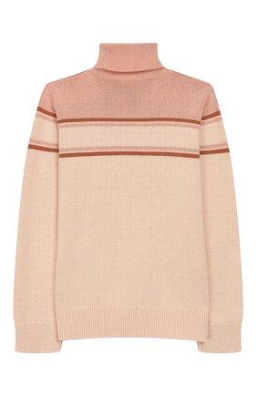 Детский свитер из хлопка и шерсти CHLOÉ светло-розового цвета, арт. C15A78 | Фото 2