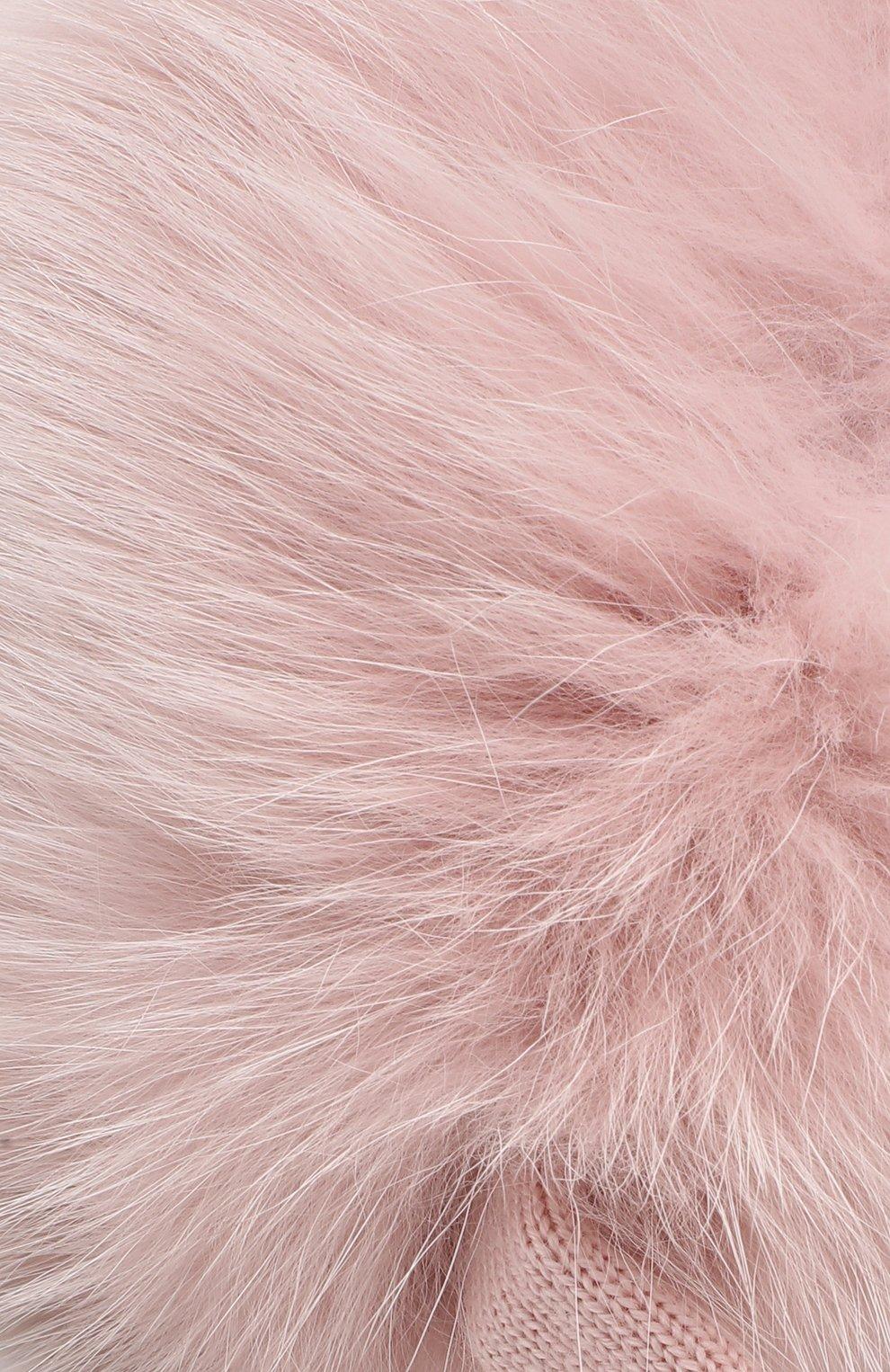 Мужские наушники с меховой отделкой IL TRENINO розового цвета, арт. 19 6304/LS | Фото 3