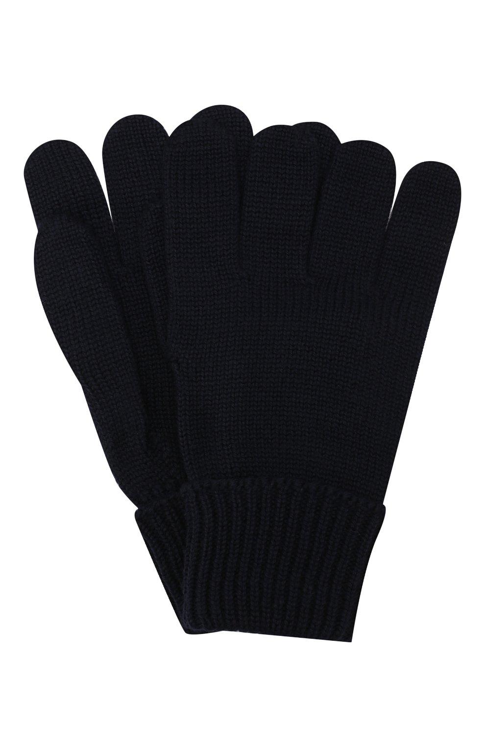 Детские шерстяные перчатки IL TRENINO темно-синего цвета, арт. 19 5059/E0 | Фото 1