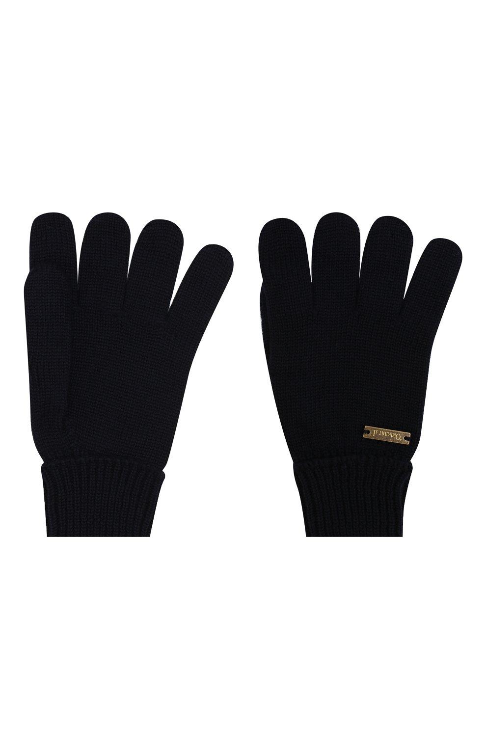 Детские шерстяные перчатки IL TRENINO темно-синего цвета, арт. 19 5059/E0 | Фото 2