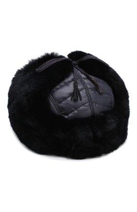 Детского шерстяная шапка-ушанка с меховой отделкой IL TRENINO темно-синего цвета, арт. 18 7433/E0 | Фото 2
