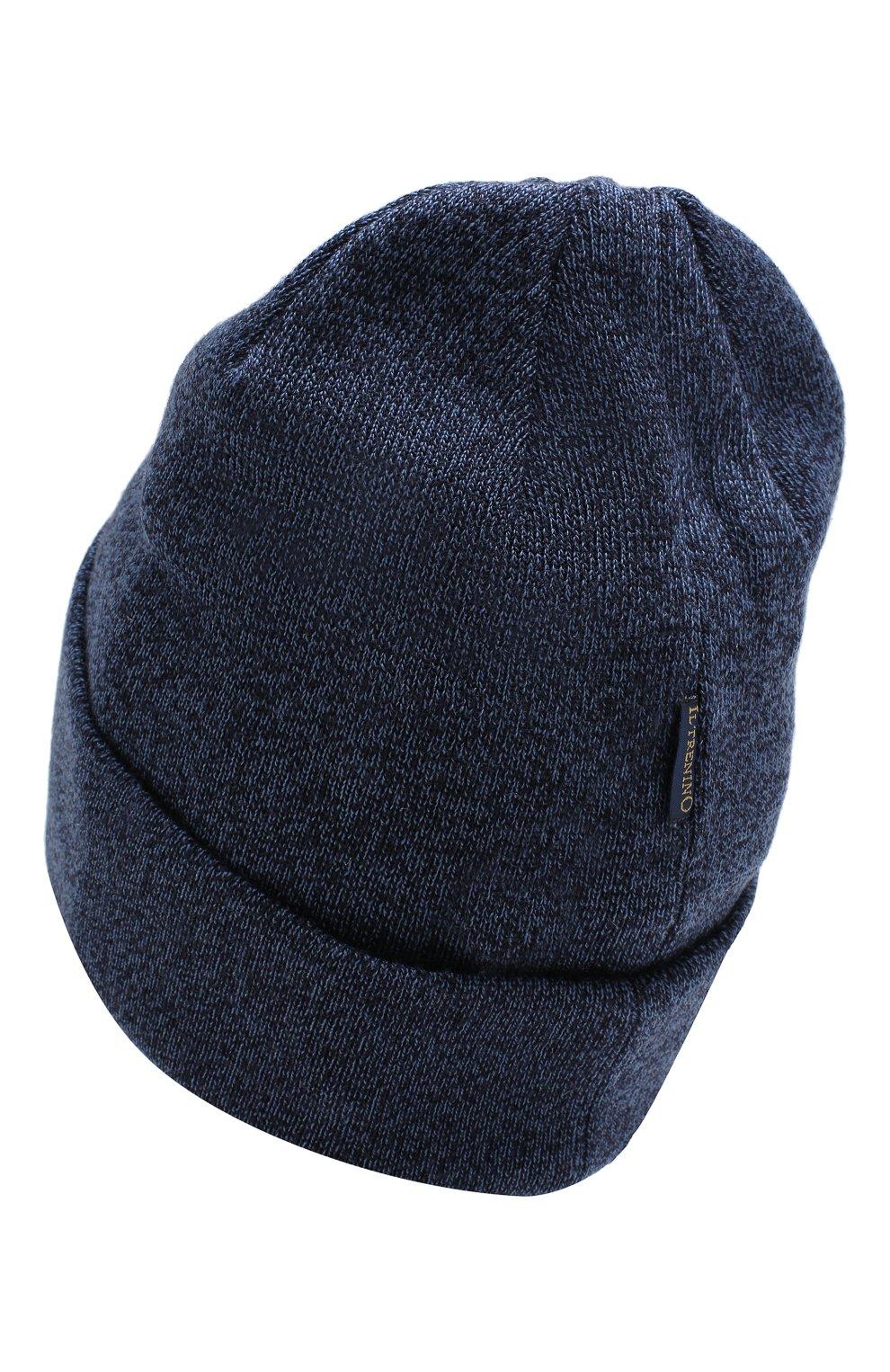 Детского шерстяная шапка IL TRENINO синего цвета, арт. 18 7319/LR   Фото 2
