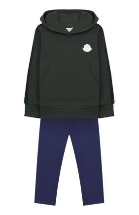 Детского комплект из худи и брюк MONCLER ENFANT синего цвета, арт. E2-954-88138-05-809B3/4-6A | Фото 1