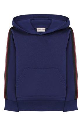 Детского комплект из худи и брюк MONCLER ENFANT синего цвета, арт. E2-954-88138-05-809B3/4-6A | Фото 2