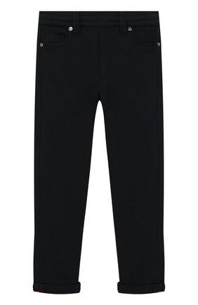 Детские хлопковые брюки MONCLER ENFANT синего цвета, арт. E2-954-87055-05-809B3/4-6A | Фото 1