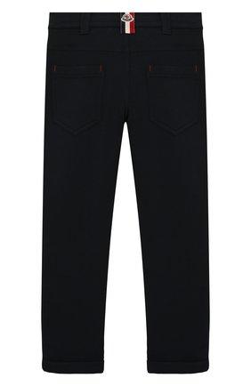 Детские хлопковые брюки MONCLER ENFANT синего цвета, арт. E2-954-87055-05-809B3/4-6A | Фото 2
