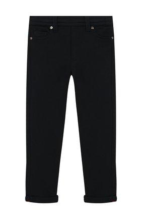 Детские хлопковые брюки MONCLER ENFANT синего цвета, арт. E2-954-87055-05-809B3/12-14A | Фото 1