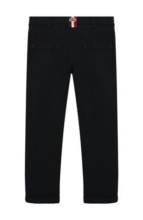 Детские хлопковые брюки MONCLER ENFANT синего цвета, арт. E2-954-87055-05-809B3/12-14A | Фото 2