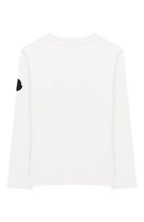 Детская хлопковый лонгслив MONCLER ENFANT белого цвета, арт. E2-954-80270-50-83092/12-14A | Фото 2