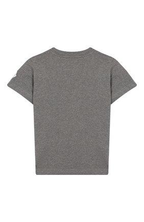 Детская хлопковая футболка MONCLER ENFANT серого цвета, арт. E2-954-80269-50-83092/4-6A | Фото 2