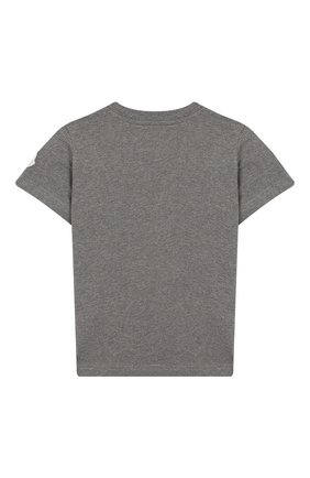 Детская хлопковая футболка MONCLER ENFANT серого цвета, арт. E2-954-80269-50-83092/8-10A | Фото 2