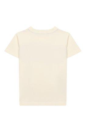 Детская хлопковая футболка MONCLER ENFANT белого цвета, арт. E2-954-80266-50-83092/8-10A | Фото 2