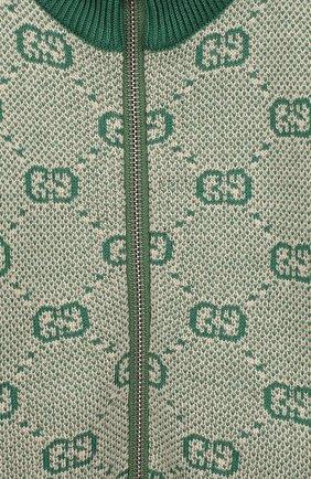 Детский кардиган из шерсти и хлопка GUCCI зеленого цвета, арт. 574618/XKASZ | Фото 3