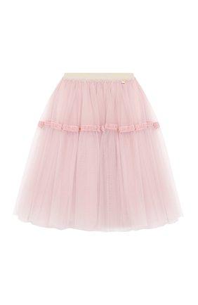 Детская юбка SIMONETTA розового цвета, арт. 1L7070/LA960/5-8 | Фото 1