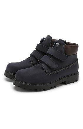 Утепленные ботинки из кожи   Фото №1