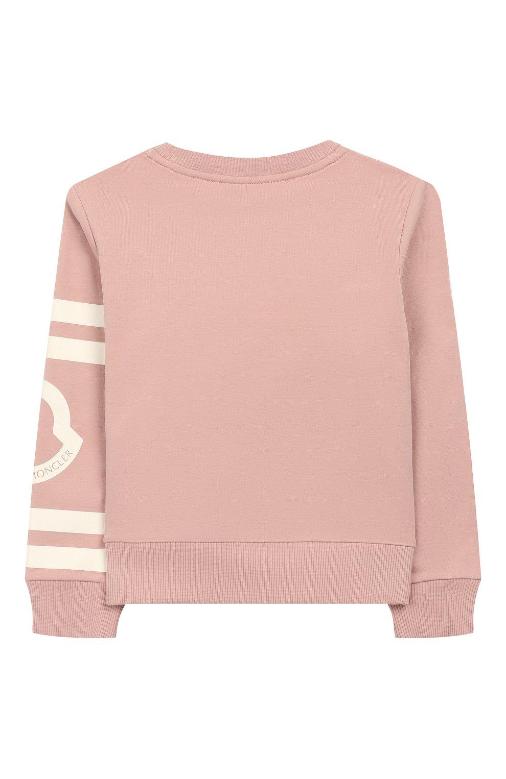 Детский хлопковый свитшот MONCLER ENFANT розового цвета, арт. E2-954-80739-50-V8085/4-6A | Фото 2